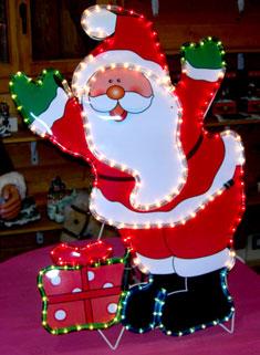 Babbo Natale c/pacco - Per esterno