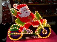 Babbo Natale c/moto - Per esterno