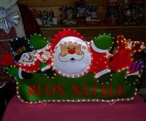 Viso Babbo Natale renna e pupazzo di neve - Per interno
