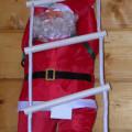 Babbo Natale su scala di corda cm.50
