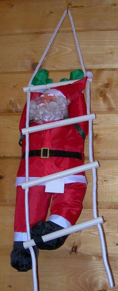 Babbo Natale 50.Babbo Natale Su Scala Di Corda Cm 50 Forze Casa