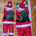 Babbo Natale su scala di corda cm.90