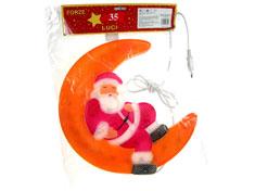 """Decorazioni natalizie  da interno """"Babbo Natale c/luna"""""""