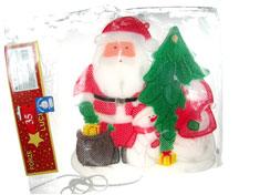 """Decorazioni natalizie  da interno """"Babbo Natale c/albero"""""""