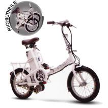 Bicicletta Elettrica Richiudibile colore bianco