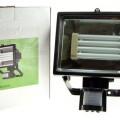 Farone alogeno con lampada a basso consumo con sensore